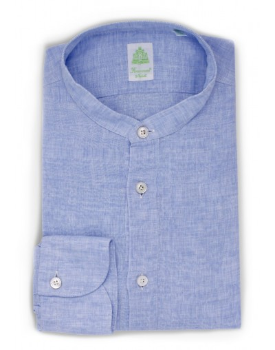 Finamore Sport Finamore Maiorca  polo slim fit light blu linen