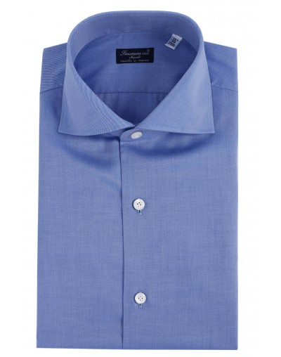 Dress shirt Finamore 1925 Napoli regular fit Twill azure