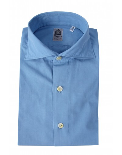 Camicia Seattle sport slim fit azzurra Finamore 1925
