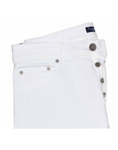 Trousers Finamore 1925 TEXAS 7 WHITE